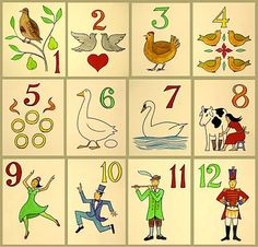 photograph relating to 12 Days of Christmas Printable Templates called 82 Least difficult 12 Times of Xmas photos inside of 2019 All components