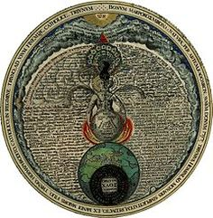 "Baphomet's archetype can be seen in this --""Androgyne"" of Heinrich Khunrath, in ""Amphitheatrum Sapientiae Aeternae"" (Amphitheater of Eternal Wisdom). He was a famous alchemist, kabbalist, and a rosicrucian."