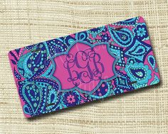 Custom Personalized License Plate, Monogrammed License Plate, Paisley LP Inspired on Etsy, $19.99