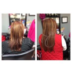 "You can still get length with your desired volume with AIRess Clip-In Extensions!   Here this amazing transformation shows that this new Queen got volume and length with her ""Copper Red"" AIRess Extensions!! What do you think of this before and after? www.QueenCHair.com"