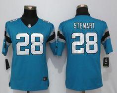 nike panthers jonathan stewart blue alternate womens stitched nfl elite jersey and jake butt 80 jers