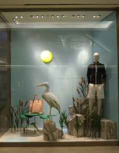 """HERMES, The Gardens Mall, Kuala Lumpur, Malaysia, """"The stork is voiceless because there is really nothing to say"""", photo by Displayhunter2, pinned by Ton van der Veer"""