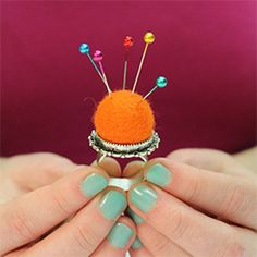 Pretty Little Pincushion Ring