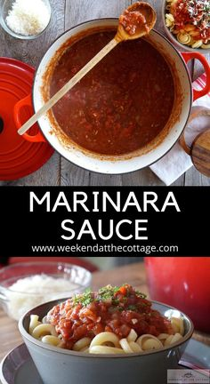 The secret to this easy Marinara Sauce it's made with San Marzano tomatoes red wine and balsamic vinegar. Make a double batch and freeze it. Serve over pasta with parmesan or in other recipes. How to make Tomato Sauce How To Make Tomato Sauce, Easy Tomato Sauce, Basic Tomato Sauce Recipe, Other Recipes, New Recipes, Recipies, Pasta With Ketchup, Easy Marinara Sauce, Cooking Tomatoes