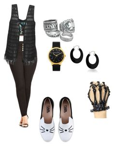 """""""Groovy, alternative summer."""" by katelyn-savard on Polyvore featuring City Chic, Karl Lagerfeld and Bling Jewelry"""