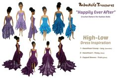 """Happily Ever After"" Crochet Pattern for Fashion Dolls - Rebeckah's Treasures"