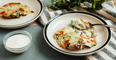 Stuff Some Portobellos with Veggies and Top with Creamy Spinach Bechamel for a Hefty Holiday Meal - Pepper. Bechamel Recipe, Mushroom Omelette, Stuffed Mushrooms, Stuffed Peppers, Creamy Spinach, Cheesy Recipes, English Food, Mushroom Recipes, Portobello