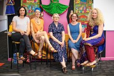Mandy Ord, Nicki Greenberg, Kate Constable, Penni Russon and Kirsty at the Eltham launch of 'Eat the Sky, Drink the Ocean'.