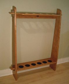 Another Wooden Fly Rod Tube Rack Fly Fishing