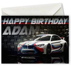 Personalised BMW Birthday Card