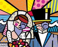 Honeymoon At Sea by Romero Britto - Romero Britto - B - Artist - The World's Largest Animation And Fine Art Gallery Graffiti Painting, Graffiti Art, Paper Architecture, Easy Paintings, Oil Paintings, Arte Pop, Famous Artists, Graphic Design Illustration, Abstract Pattern