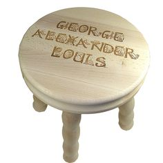 Personalised Child's Alphabet Wooden Stool