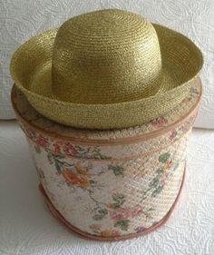 Vintage Gold Metallic Hat by Georgi by BarbeeVintage on Etsy, $18.00