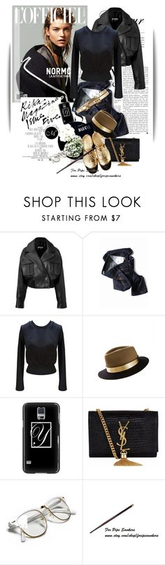 """Untitled #1319"" by maja-k ❤ liked on Polyvore featuring Libertine, Balmain, Built by Wendy, Maison Michel, Yves Saint Laurent, Retrò and John Lewis"