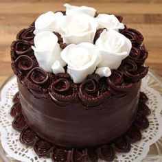 Chocolate Ganache Cake ~ a challenge  :)