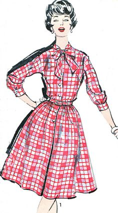 1960s Dress Pattern Advance 2829 Rockabilly Bow by paneenjerez, $16.00