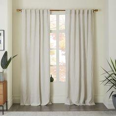 Belgian Linen Curtain, Natural, 48 from West Elm