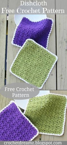 Dishcloth or Washcloth, Free Crochet Pattern