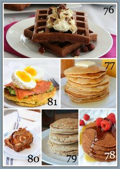 80 healthy breakfast recipes Pancakes WafflesFrenchToast