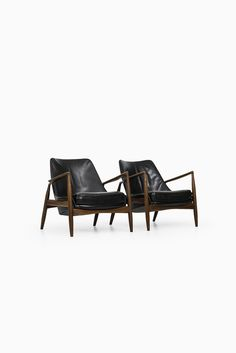 Ib Kofod-Larsen seal easy chairs by OPE at Studio Schalling
