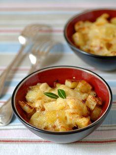 Recette de Pommes de terre gratinées au reblochon