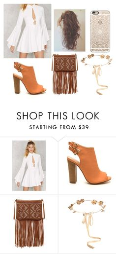 """Boho"" by victoria1221 ❤ liked on Polyvore featuring Nasty Gal, Carlos by Carlos Santana, Eugenia Kim and Casetify"