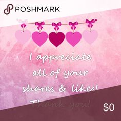 Thank you Thank you for liking my items and sharing them Other