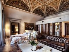 Readers' Rating: 95.500A hideaway in Florence's suburban Fiesole neighborhood, this historic villa includes 12-acres of landscaped gardens, a spa, and beautifully restored rooms with original marble floors and frescos, alongside custom king beds and deep soaking tubs. If you want to splurge, go for one of the penthouses, one of Kate Moss's preferred crash pads.