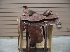 "Vintage Circle Y Equitation Saddle 1972 15"" Model 1088 Buckstitching  #CircleY"