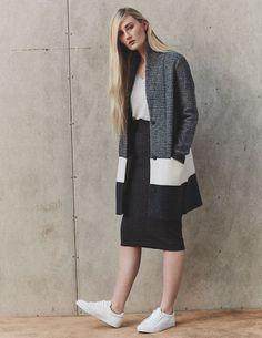 Autumn winter style | knitted cardigan in grey | merino