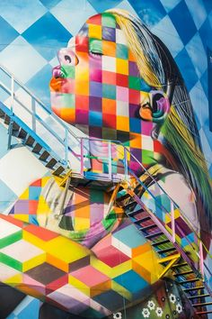 By Eduardo Kobra. Murals Street Art, Kobra Street Art, 3d Street Art, Amazing Street Art, Mural Art, Street Art Graffiti, Street Artists, Banksy, Land Art