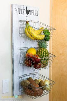 Learn how to build this pretty and useful produce rack with these step by step instructions. It's perfect for storing your fresh produce!