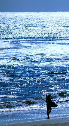 blue water....