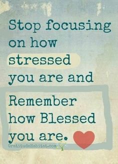 Focus on how Blessed you are.   Visit us at: www.GratitudeHabitat.com #gratitude #blessed #inspirational