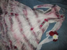 Day of the Dead corpse bride dress COSTUME size 4  sugar skull Mardi Gras #Handmade #Dress #Halloween