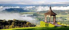 The breathtaking view over the Turrialba Valley in  Costa Rica, Central America