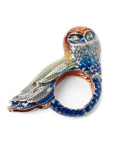RACHEL ROY Owl Cocktail Stretch Ring