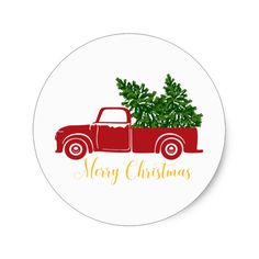 Christmas tree truck Sticker #Custom #Christmas #Holiday #Decals #Stickers