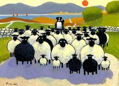 thomas joseph paintings of sheeps | visit tomjoe com