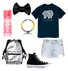 """""""ivory ella.🐘"""" by madelynnnnnnnne on Polyvore featuring Topshop, Converse and Victoria's Secret"""