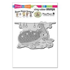 Cling Holiday Hedgehog Rubber - This rubber stamp was recently purchased off from our web site. Click on the image to see more information. Calendar Pictures, 5 Gifts, House Mouse, Note Cards, Design Projects, Cardmaking, Hedgehog, Christmas Cards, Folk