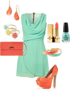summer date night, created by thornegrace on Polyvore. absolutely adore the colour palette.