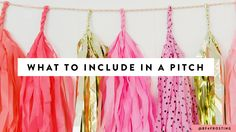 What bloggers should include in a pitch when contacting a brand.