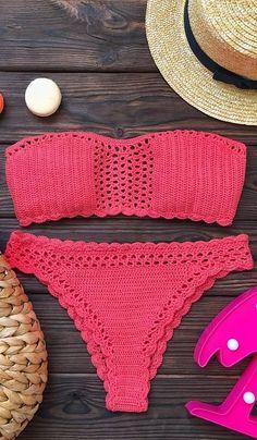 Crochet Bikini Pattern, Crochet Crop Top, Crochet Blouse, Crochet Geek, Knit Crochet, Mode Du Bikini, Beach Crochet, Crochet Fashion, Beautiful Crochet