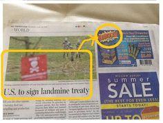 More unfortunate news / advert juxtaposition...