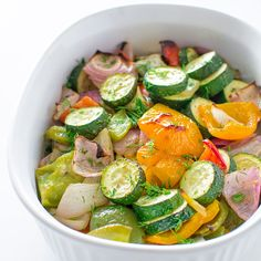 A succulent combination of bell peppers, onion and zucchini baked to perfection with Mediterranean spices!This is amust-try vegetable side dish!
