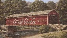 Local Artist Jim Harrison is famous for his Coca Cola paintings. He has a lovely shop in Downtown Denmark, SC! Country Barns, Old Barns, Country Roads, Jim Harrison, Old Bridges, Famous Bridges, Love Cover, Covered Bridges, Places To See