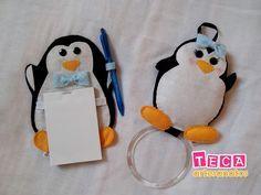 Kit Pinguim (porta pano de prato + porta recados de geladeira).  br f5463055fa7