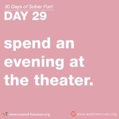 "April 2014 is NCADD Alcohol Awareness Month. To celebrate this great cause, Austin Recovery will be showcasing ""30 Days of Sober Fun"" that you can have in your community. Day 29 of #30DaysofSoberFun: Spend an evening at the theater. War Horse, the 2011 Tony winner for Best Play, is coming to Austin May 6-11 with Broadway Across America. Make sure to get your tickets and spend a fun night out on the town! http://austin.broadway.com/shows/war-horse-baa/ #alcoholawarenessmonth"