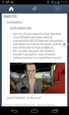 Phil Coulson, the character the fans wouldn't let Joss Whedon kill off